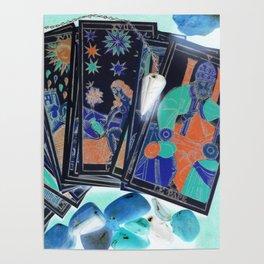 Tarot Card Mystical Gypsy Fortune Teller Fantasy Poster