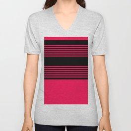 Elegant pink stripes pattern for fine home decoration. Unisex V-Neck