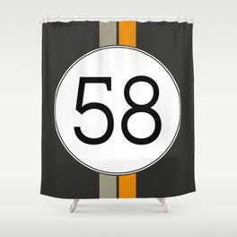 Rally 58 Shower Curtain