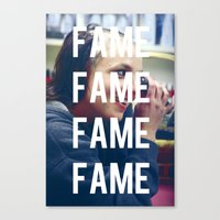 britney spears Canvas Prints featuring FAME - BRITNEY SPEARS by Beauty Killer Art