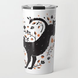 Dogs of Fall - Orange Palette Travel Mug