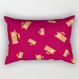 Red Lizard Rectangular Pillow