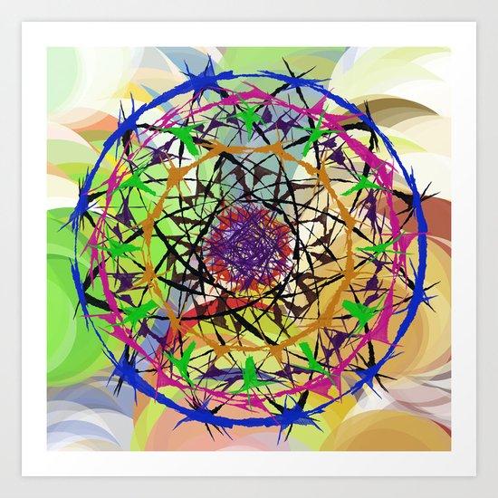 Coloured thorns Art Print