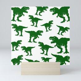 Dinosaur Pattern Tyrannosaurus Rex Dinosaurs Collage Velociraptors Mini Art Print