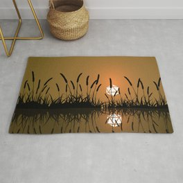 Marshland Swamp Sunset D20 Dice Sun Tabletop RPG Landscapes Rug