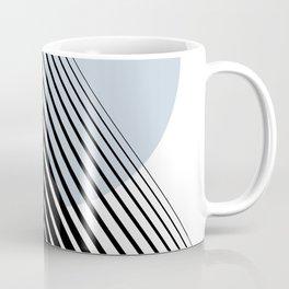 Rising Sun Minimal Japanese Abstract White Black Blue Coffee Mug