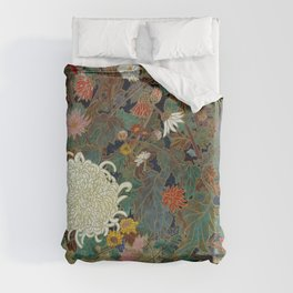 flower【Japanese painting】 Duvet Cover