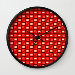 Pattern Cube Red Wall Clock