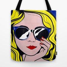 Pop Art Glamour Girl Tote Bag