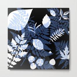 Midnight Leaves Metal Print