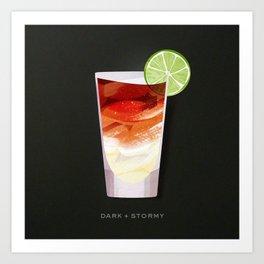 Cocktail Hour: Dark + Stormy Art Print