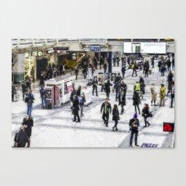 London Commuter Art Canvas Print