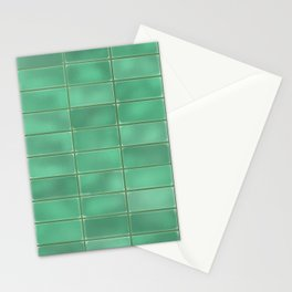 Cyan Tiles Stationery Cards
