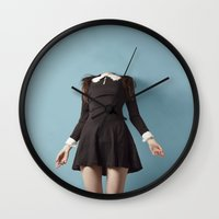 silence of the lambs Wall Clocks featuring Silence by FLORABORSI