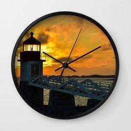 Pumpkin Chiffon Sunset Wall Clock