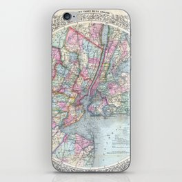 Antique New York City Map iPhone Skin