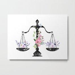 Scales of Justice Art Metal Print