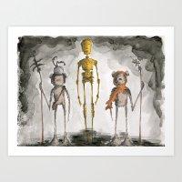 The Golden One Art Print