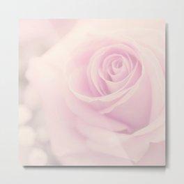 Pink Vintage rose Metal Print
