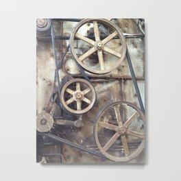 Cotton Gin Cogs and Wheels Metal Print