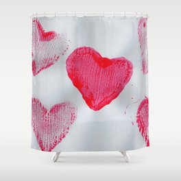 LOVE-ly Hearts Shower Curtain