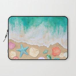Beachcoming - Seashell Scattered Shore Laptop Sleeve