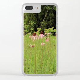 Purple Coneflowers of the Pennyroyal Plains Clear iPhone Case