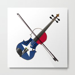 Texas Fiddle Metal Print