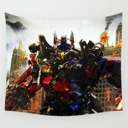 leader robot Wall Tapestry