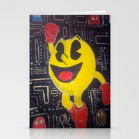 pacman Stationery Cards featuring pacman by RaieshaM