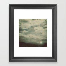 Bright Spot On The Sea Framed Art Print
