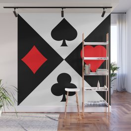 Four Suits Wall Mural