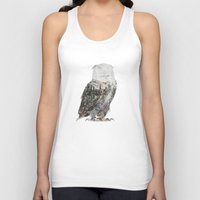 andreas preis Tank Tops featuring Arctic Owl by Andreas Lie