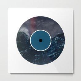 Vinyl Record Art & Design | Stormy Ocean Metal Print