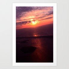 In Sky Sunset Art Print