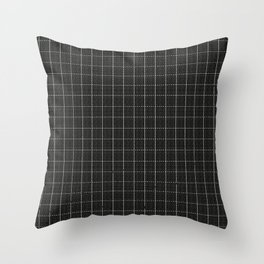 Grid Black and White Throw Pillow