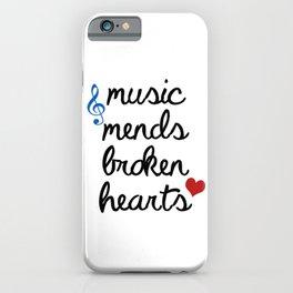 Music Mends Broken Hearts iPhone Case