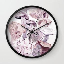 Mushroom Medley Wall Clock