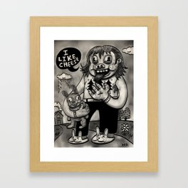 I Like Cheese Framed Art Print