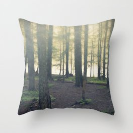 Forest - Through the Trees Throw Pillow