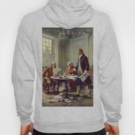 Jean-Leon Gerome Ferris's Writing the Declaration of Independence in 1776 Hoody