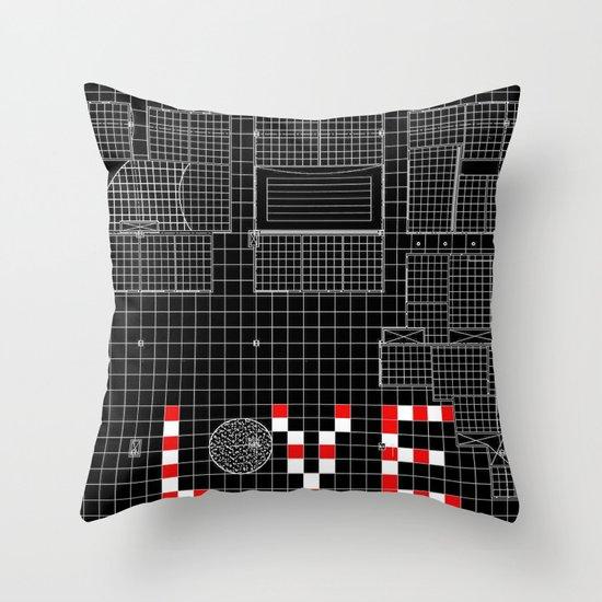 Architectural Print - Ceiling Plan - LOVE Throw Pillow