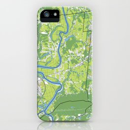 Pioneer Valley map iPhone Case