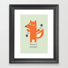 Get Your Mittens On! Framed Art Print