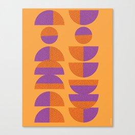 Circles Marks Canvas Print