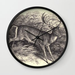 Antique Deer Wall Clock