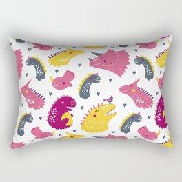 Nursery bundle cute dinosaurs Rectangular Pillow