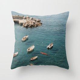 Cinque Terre - A dip in the Mediterranean 2.0 Throw Pillow