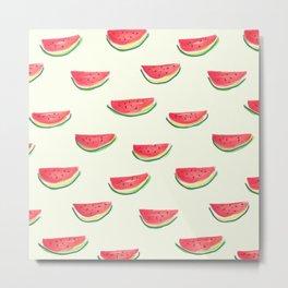 Watercolor Watermelon Metal Print