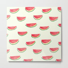 Watercolor Watermelon Metal Print
